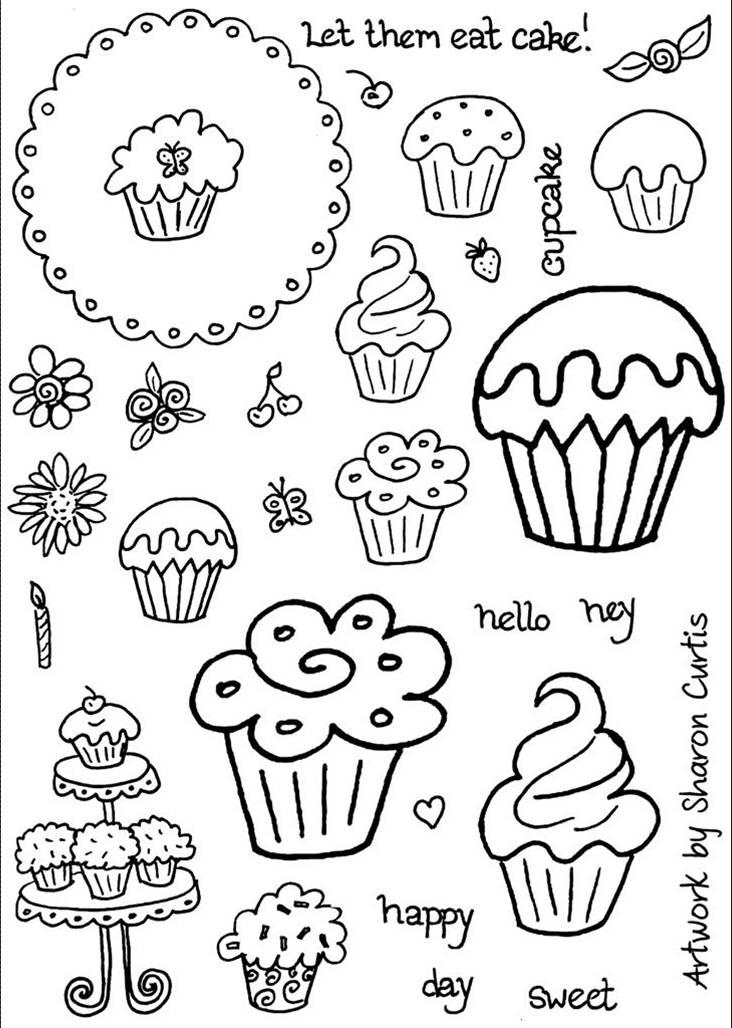 Increíble Cupcakes Para Colorear Lindas Colección de Imágenes ...