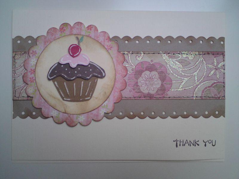 Stencil cupcake