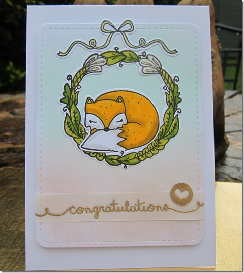 Congratulations card using Mama Elephant Charmed for Georgie