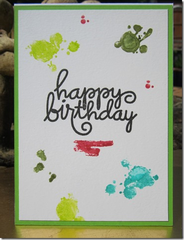 card for kuretake colours of july using paper smooches positive strokes set and zig clean color brush markers