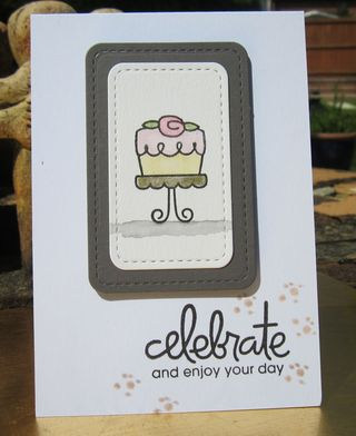 Card for kuretake colours of july using paper smooches birthday bash stamps and tambi gansai paints