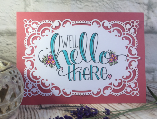 Well Hello There stamp by Tammy Tutterow Spellbinders